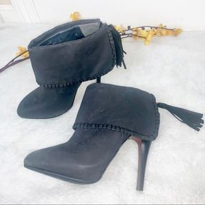 MAX STUDIO | 8 Ankle Booties Heels w Tassel Zipper